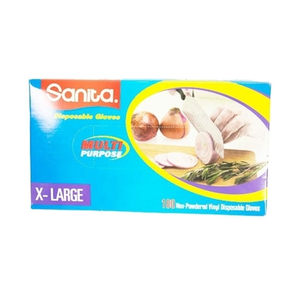 Picture of Sanita Gloves VINYL NON POWDER XL  10X100
