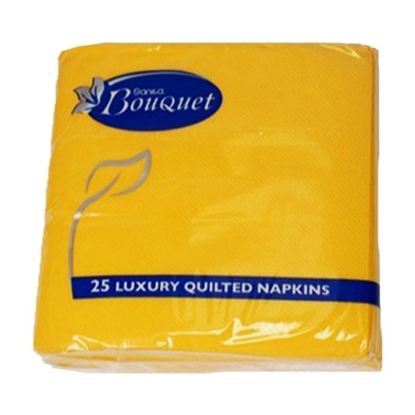 Picture of Sanita Bouquet Napkins Luxury 24x24 Yellow