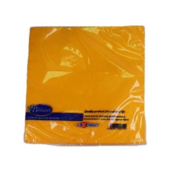 صورة مناديل سفرة سانيتا بوكيه 25 ورقة (حجم 40*40) أصفر