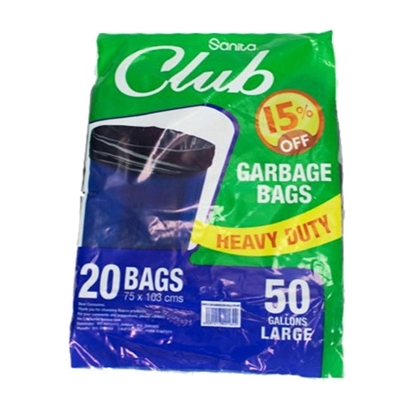 Picture of Garbage BAG 50G Sanita CLUB PACK 10X20
