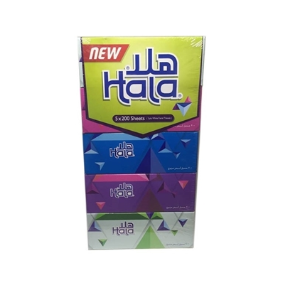 Picture of FACIAL TISSUE HALA 2PLY 6X5X200