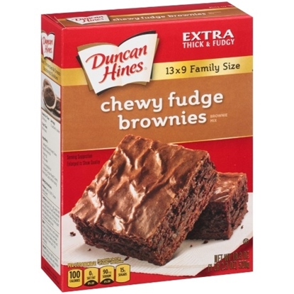 Picture of Duncan Hines Chewy Fudge Brownies Brownie Mix