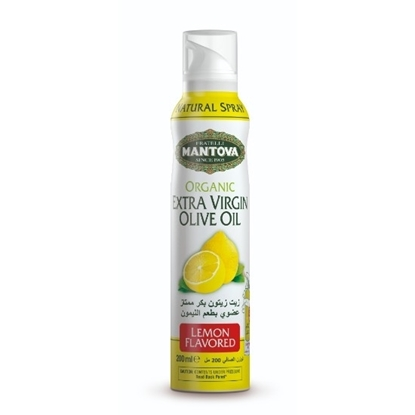 Picture of Mantova Organic Lemon Flavored Extra Virgin Olive Oil Spray200 ml*12
