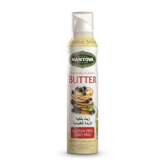 Picture of Mantova Butter Flavored Sunflower Oil Spray 200ml*12