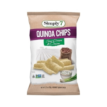 Picture of Simply 7 Quinoa Chips Sour cream & onion 99 G*12