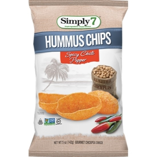 Picture of Simply 7 Hummus Chips Chili Pepper 142 G*12