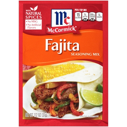 Picture of McCormic FAJITAS SEASONING -31gm*12