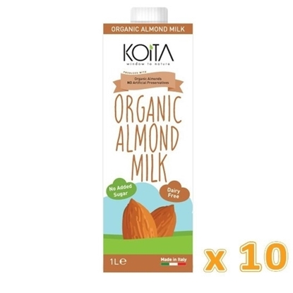 الصورة: KOITA FOODS ORGANIC ALMOND MILK 1000 ML x 10