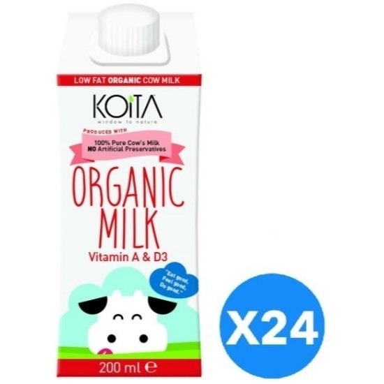صورة KOITA FOODS ORGANIC MILK LOW FAT 200 ML