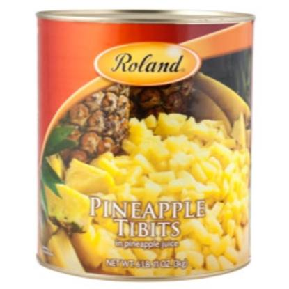 Picture of Roland Pineapple Tibits in Pineapple Juice 3 kg