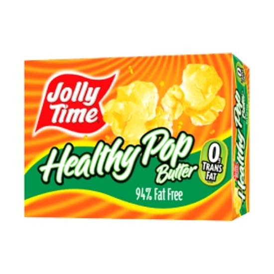 Picture of JOLLY TIME Healthy Pop Microwave Pop Corn (94% Fat Free)-255gm*12