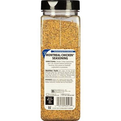Picture of McCormic MONTREAL Chicken SEASONING- 16 OZ