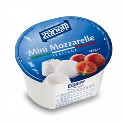 Picture of MOZZARELLA MINI CHERRIES COW MILK 125 GM