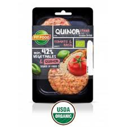Picture of FIT-FOOD ORGANIC VEGETARIAN STEAK QUINOA TOMATO AND BASIL