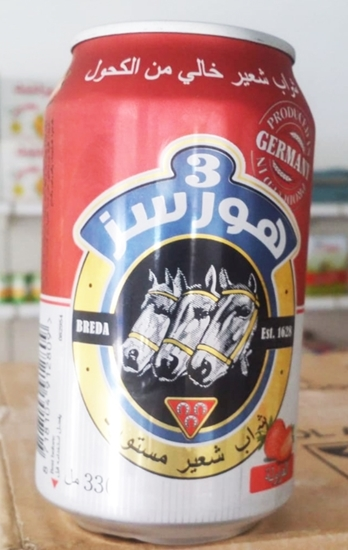 Picture of 3 Horses Strawaberry Malt Beverage(  330 ML * 24 Can )