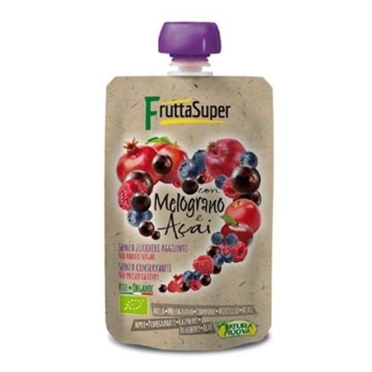 Picture of NATURANUOVA FRUTTASUPER ORGANIC APPLE POMEGRANATE PUREE 120 GM