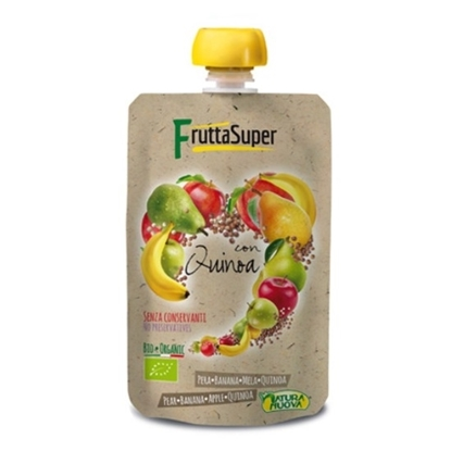Picture of NATURANUAVA FRUTTASUPER ORGANIC APPLE BANANA QUINOA PUREE 120 GM