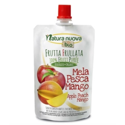 Picture of NATURANUAVA ORGANIC APPLE PEACH MANGO PUREE 100 GM