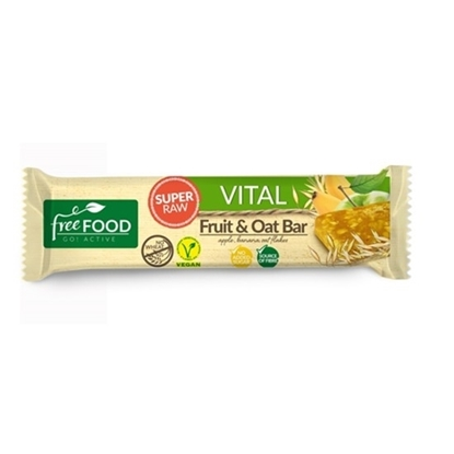 Picture of FREEFOOD VITAL SUPER RAW FRUIT & OAT BAR WITH BANANA 40 GM