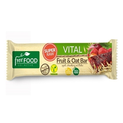 Picture of FREEFOOD VITAL SUPER RAW FRUIT & OAT BAR WITH STRARBERRY 40 GM