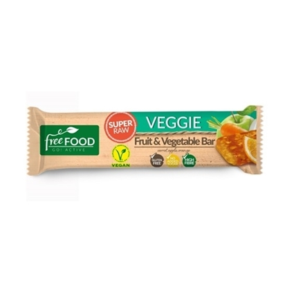 Picture of FREEFOOD VEGGIE SUPER RAW FRUIT &VEGETABLE BAR WITH BEETROOT 40 GM
