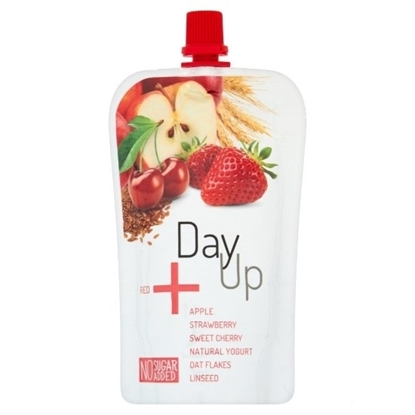Picture of DAY UP RED APPLE STRAWBERRY OATFLAKES PUREE 120 GM