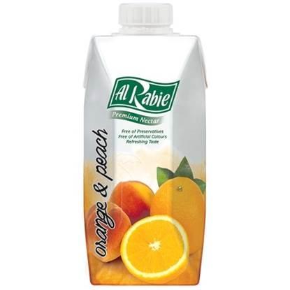 Picture of AL RABIE Orange & Peach P. Nectar 330 ml