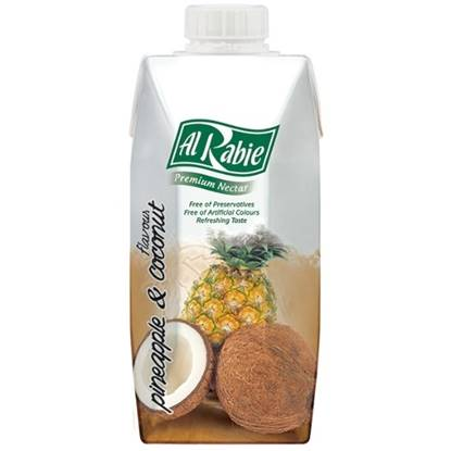 Picture of AL RABIE Pineapple with Coconut Flv P. Nectar 330 ml