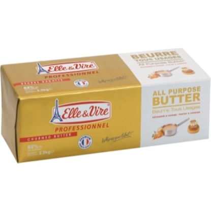 Picture of E&V Butter Unsalted 82% 2.5 KG x 4 Block