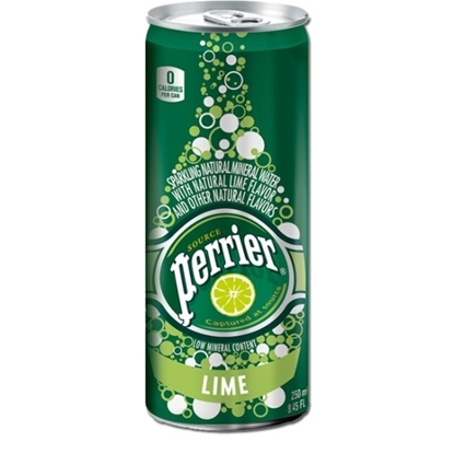 Picture of PERRIER NATURAL MINERAL WATER LIME SLIM CAN 250 ML