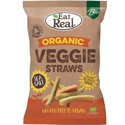 Picture of EAT REAL ORGANIC VEGGIE STRAWS SEA SALT 100 GM