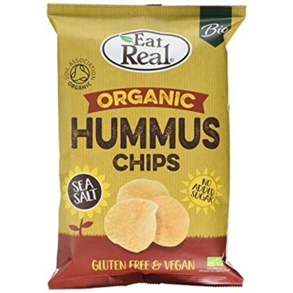 Picture of EAT REAL ORGANIC HUMUS CHIPS SEA SALT 100 GM