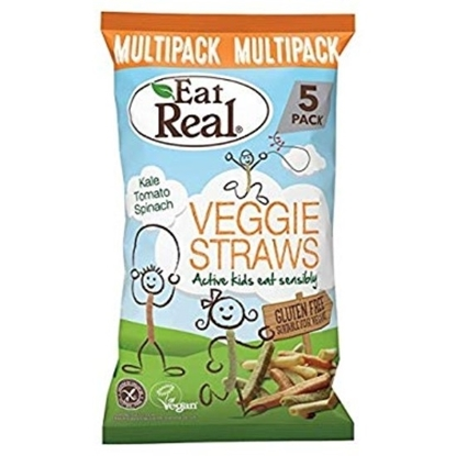 Picture of EAT REAL VEGGIE STRAW KIDS MULTIPACK (5x20 gm )100 GM