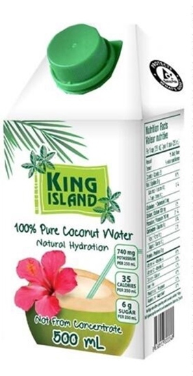 Picture of King Island Pure COCONUT WATER DRINK  500 ML