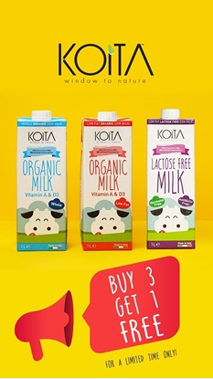 Picture of Koita Foods Organic Milk Mix 1 Liter  ( Buy 3 Get 1 free )