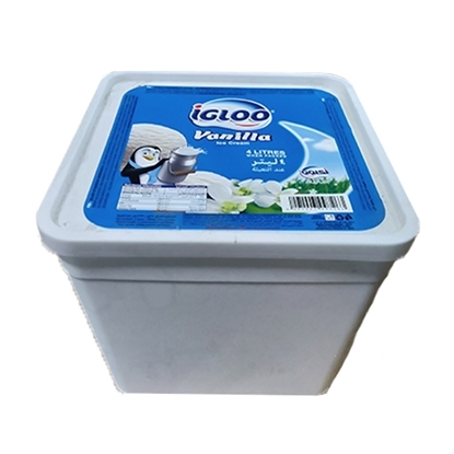 Picture of Igloo Ice Cream Tub Vanilla  4x4 Ltr