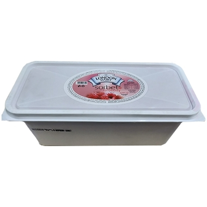 Picture of London Dairy Sorbet Ice Cream Tub Raspberry  3x4.75 Ltr