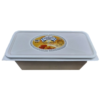 Picture of London Dairy Sorbet Ice Cream Tub Mango 3x4.75 Ltr