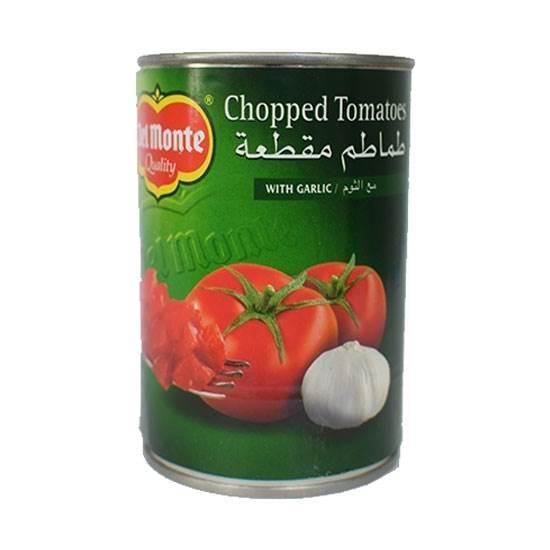 صورة ديلمونتى طماطم مقطعة مع الثوم 400 جم