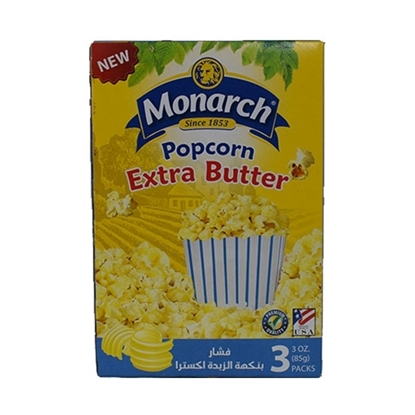 Picture of Monarch Microwave Popcorn Double Butter Flavor 255 gm