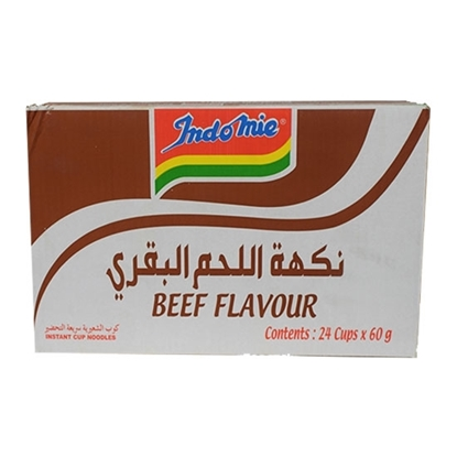 Picture of Indomie Instant Noodles Beef Flavor Cup 60gm (24pcs)