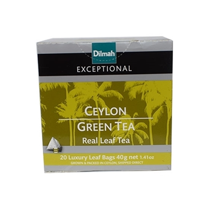 Picture of Dilmah Exceptional Leaf Tea Bag Ceylon Green Tea 2gm