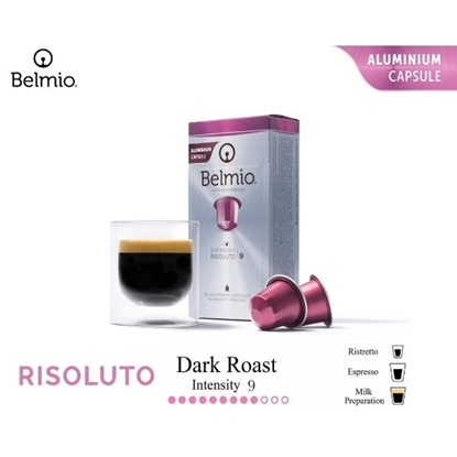 Picture of espresso risoluto coffee capsules