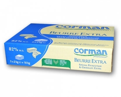 Picture of Corman Butter Unsalted Extra 82% 2x5 block