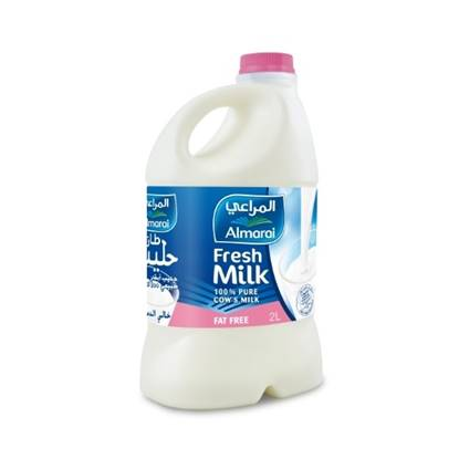 Picture of ALMARAI FRESH MILK FAT FREE 2L PET (1X10)