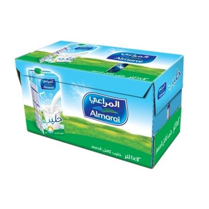 Picture of ALMARAI UHT MILK  FULL FAT 1L SCREW CAP WITH VITAMIN