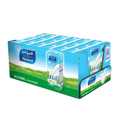 Picture of ALMARAI UHT MILK FULL FAT 200ML ADDED VITAMINS