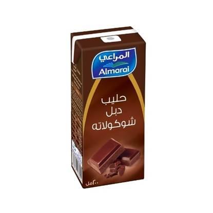 Picture of ALMARAI UHT MILK RCM DOUBLE CHOCOLATE 200ML
