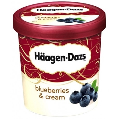 Picture of HD ICECREME BLUEBERRIES & CREAM 500ML