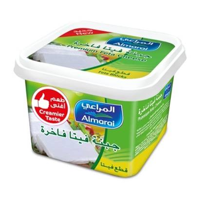 Picture of ALMARAI FETA CHEESE PREMIUM TUB BLOCK 400G (1X24)